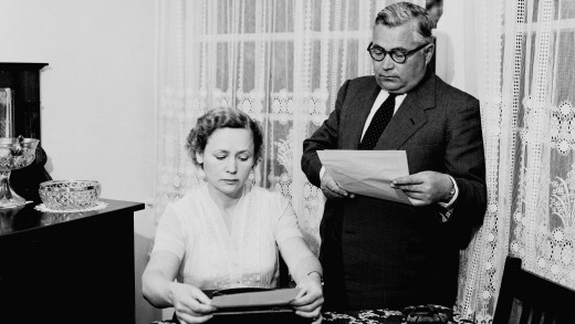 Russian diplomat Vladimir Petrov and wife Mrs Evdokia Petrov, pictured in the 1950s. The pair defected in 1954.  VINEGAR ...