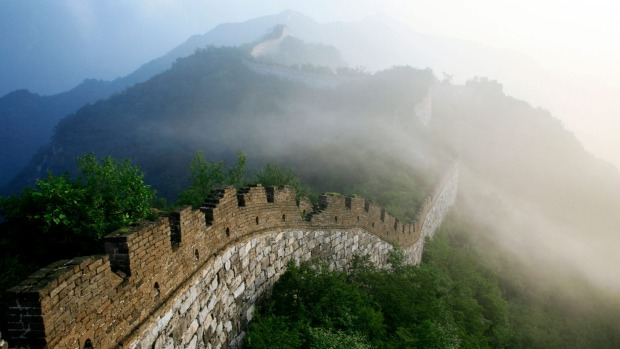 Mist and smog can often hide the expansive views available from the Great Wall of China.
