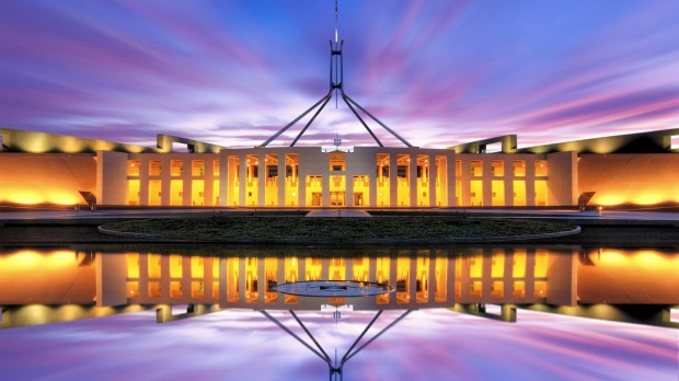 The Parliament House in Canberra boasts 4500 rooms and has been the scene of many a political coup.