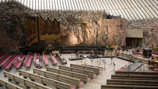 Helsinki Rock Church, Finland.