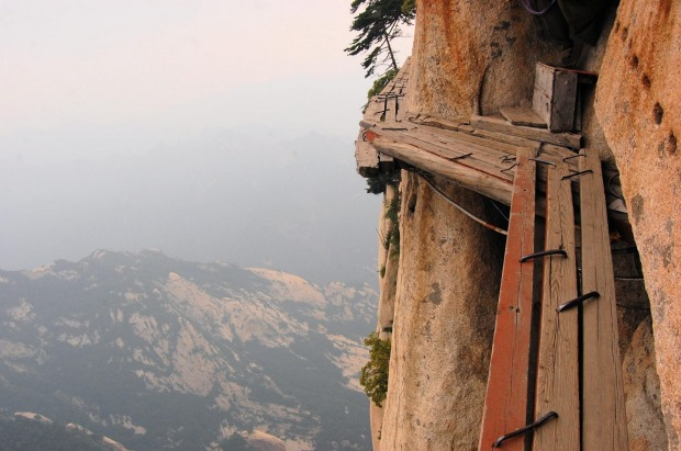 Mount Hua Shan climb in China: Climb Mount Hua Shan, China  It starts gentle enough, this climb up a mountain in rural ...