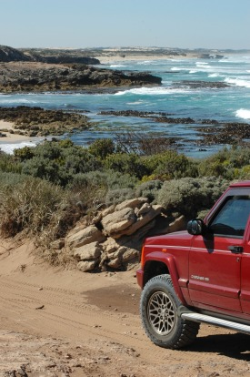 The drive between Beachport and Robe, South Australia.