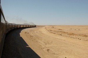 Rovos train 'Pride of Africa' in Namibia.
