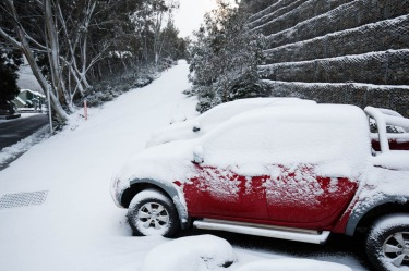 Snowfall at Thredbo.