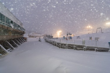 Snowfall at Perisher.
