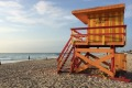 The lifeguard tower at South Beach.