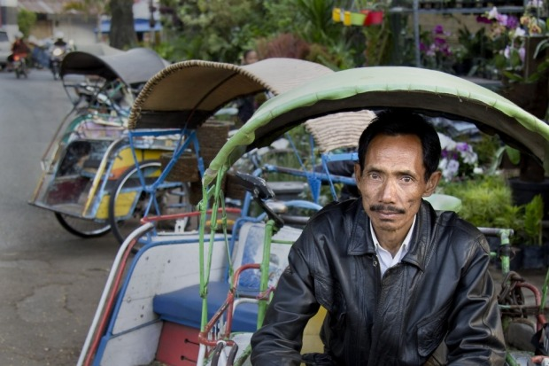 I met this pedicab driver in Malang on Java. The people of Java are very friendly and almost to a person are happy to ...