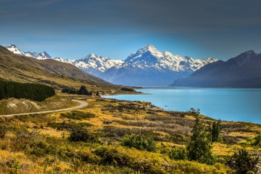 Road to Mt Cook- taken during my visit in the South Island in New Zealand. Landscapes are just amazing in this part of ...