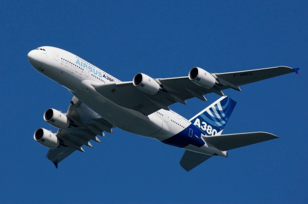 The A380, the world's largest commercial aircraft.