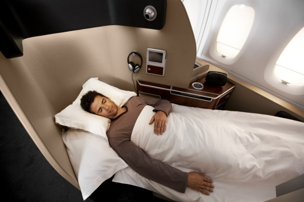 A first class sleeper on Qantas.