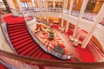 The redesigned atrium onboard Cunard's Queen Mary 2.
