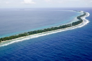 Tuvalu: A speck in the Pacific.