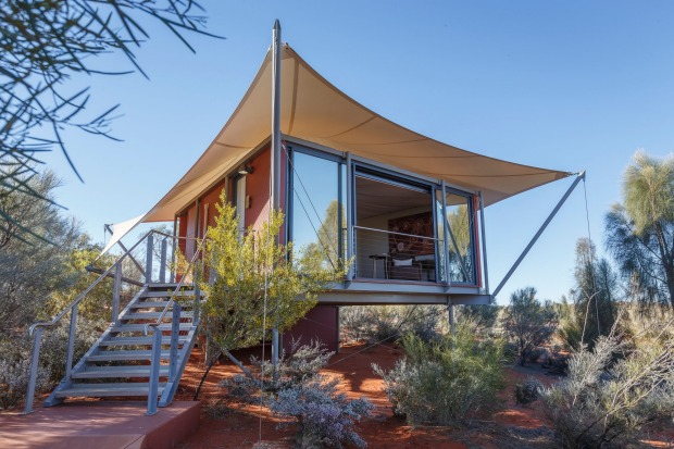 Check in to a luxury tent at Longitude 131 for the best view of Uluru.