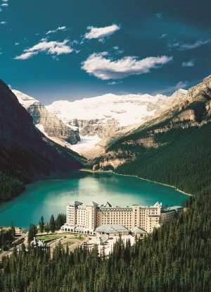 Fairmont Chateau Lake Louise is a stunner in every season.