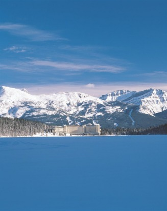Guests at Fairmont Chateau Lake Louise enjoy stunning views winter or summer.