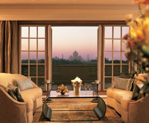 Every room at The Oberoi Amarvilas Agra has a view of the Taj Mahal including the Kohinoor Suite.