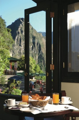 At Belmond Sanctuary Lodge Machu Picchu breakfast is served with a side of views.