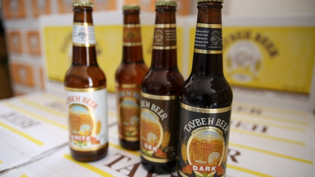 Beer from Taybeh, one of the most popular microbreweries in the Middle East.