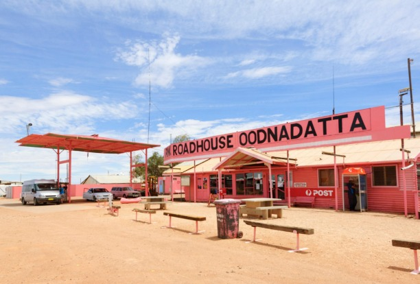 PINK ROADHOUSE, OODNADATTA: Rising out of the Simpson Desert like some gaudy leftover from Priscilla, Queen of the ...