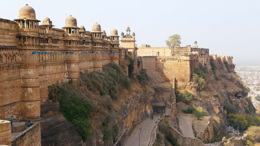 The eighth century fort of Gwalior.