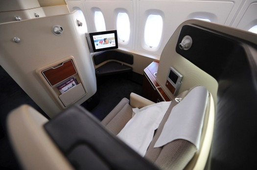 First class on a Qantas A380.