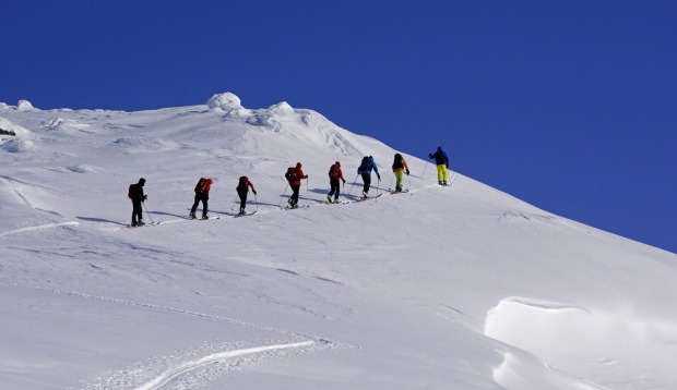 Ski mountaineering with Oceanwide Expedtiions.