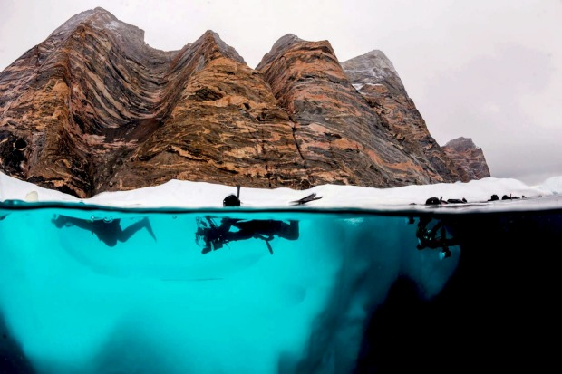 Polar Snorkelling in the Arctic with Aurora Expeditions.