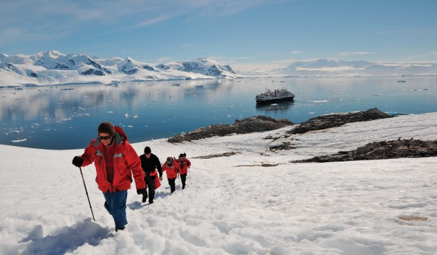 Passengers from Silversea's Silver Explorer in Antarctica.