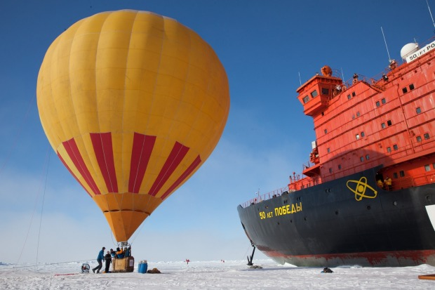 Hot-air ballooning in the Arctic with Quark Expeditions.