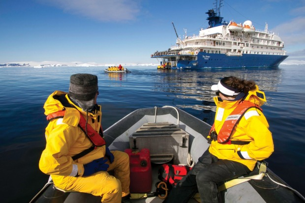 Exploring the Antarctic with Peregrine Adventures.