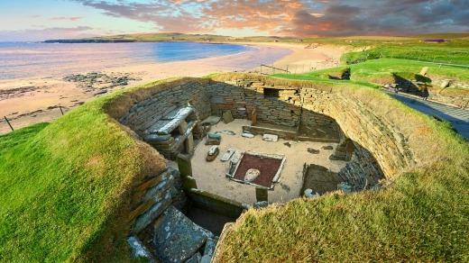 The neolithic village ruins of Skara Brae are the best of their kind in northern Europe.