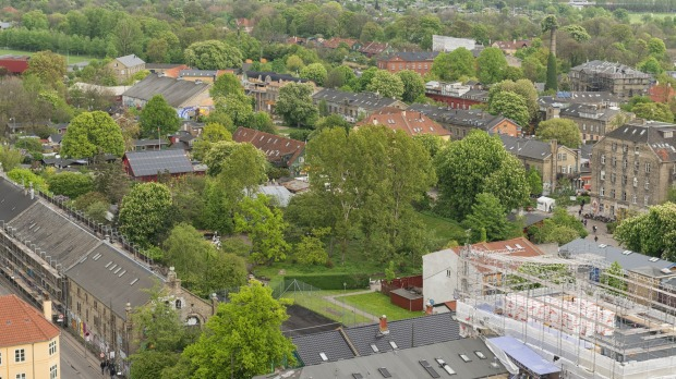 Aerial view of Christiana district in Copenhagen tra15-christiana Photo: iStock Christiania's Green Light District