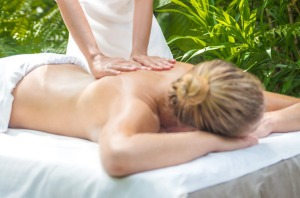 Luxury resorts often cater to guests wanting a massage treatment in the outdoors.