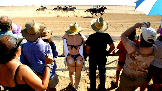 The Queensland outback's a little bit different.