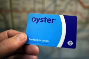 The Oyster card can be used on buses and on the tube.
