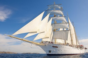 The Flying Clipper combines the romance of sail with contemporary facilities.