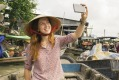 A shot to capture the moment: Cai Rang floating market, Can Tho, Vietnam.