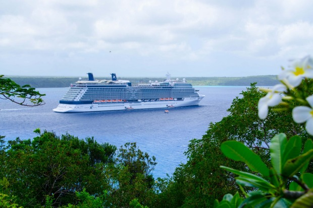 Celebrity Solstice in new Caledonia.