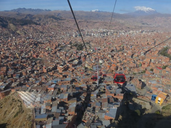 La Paz, Bolivia, is an amazing city that is set in a huge valley, surrounded by snow capped mountains. This photo was ...