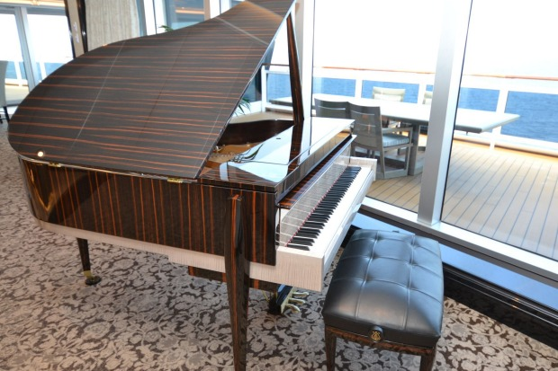 A Steinway worth a reputed $US250,000 adorns the Regent Suite.