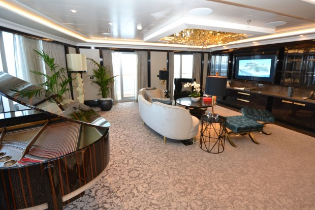 The top-line Regent Suite is said to be larger in floorspace than many suburban houses.