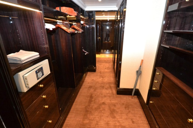 The Regent Suite's walk-in-robe feels more like a luxury department store.