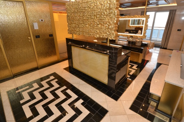 The Regent Suite's master bathroom is bigger than many land-bound apartments.