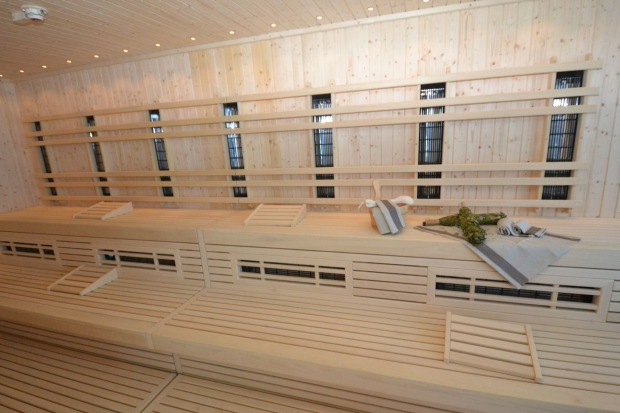 Sweat it out in the onboard sauna.