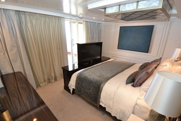 The Master Suite's main bedroom puts many hotel rooms to shame.