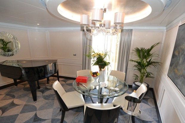 The Master Suites also include a grand piano and abundant space.