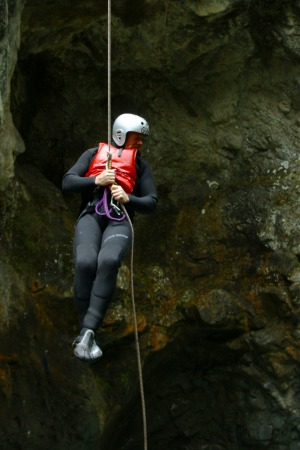 Canyoning in Queenstown is a test of superhero skills.