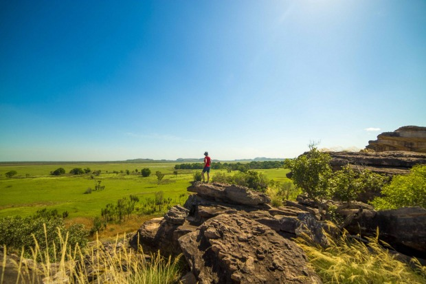 Taking in the view at Ubirr.