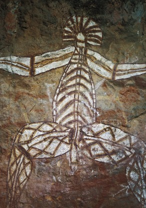 Aboriginal cave paintings in Kakadu National Park.