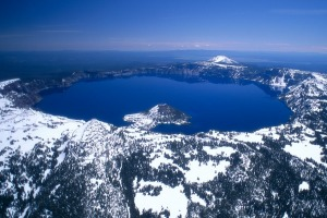 At 594 metres, Crater Lake is the deepest lake in the United States.